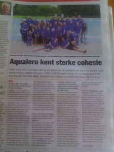 Aqualero kent sterke cohesie