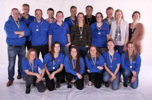 Deelnemers Aqualero 1-uursestafette 2016 Hoogezand
